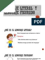 Lenguaje Figurado y Lenguaje Literal