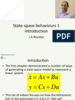 State Space Behaviours 1 - Introduction