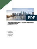 Manual do utilizador do Telefone IP Cisco série 7800 para controlo de chamadas de terceiros
