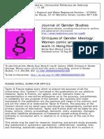 Critiques of Gender Ideology- Women Comic Artists and Their Work in Hong Kong -  Wong, Wendy Siuyi; Cuklanz, Lisa M. --
