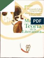 Cabo Aseguinolaza Fernando Manual de Teoria de La Literatura