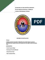 Informe de Investigacion de Investigacion - Rotación de Planetas en Gravedad Newtoniana