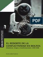El Resorte de La Conflictividad en Bolivia