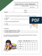 examen sistema de numeración decimal Examen de matemáticas Cuarto grado de primaria