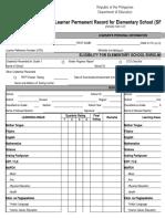 School Form 10 ES Learners Permanent Record