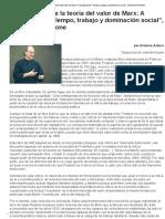 """De A. Artous_La Actualidad de La Teoría Del Valor de Marx_ a Propósito de """"Tiempo, Trabajo y Dominación Social"""", De Moishe Postone"""