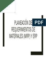 de Requerimientos de Materiales MRP