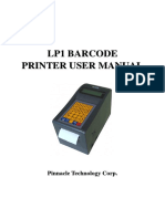 Lp1 Barcode Printer User Manual Impresora Codigo de Barras