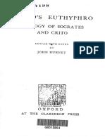 Plato's Euthyphro, Apology of Socrates and Crito - John Burnet (ed.).pdf