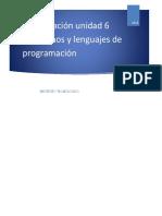Algoritmos y Lenguajes de Programacion Unidad-6