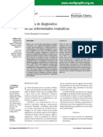 Métodos Diagnósticos en enfermedades reumáticas