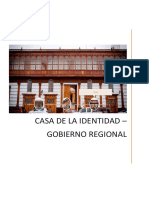 Casa de La Identidad - Informe