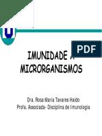 Imunidade a microrganismos parasitas, helmintos, fungos e bactérias.