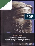 Klima Josef - Sociedad Y Cultura en La Antigua Mesopotamia
