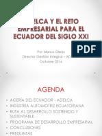 Magistral 8_ Ing. Marco Oleas, Mba. Adelca y El Reto Empresa
