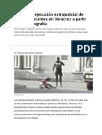 Presumen Ejecución Extrajudicial de Dos Adolescentes en Veracruz a Partir de Una Fotografía