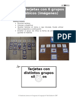 tarjetas grupos silabicos