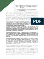 CONTRIBUCIONES ESPECIALES CIPARSA