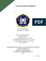 Laporan Mesin Hobbing Sarjana Terapan Teknik Mesin Polines 2014
