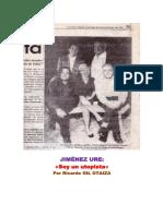 Soy Un Utopista (Jiménez Ure Entrevistado Por Gil Otaiza, El 30-11-1997. Diario Frontera, Mérida)