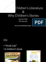 20180420 What is & Why Children's Literature