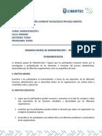 Dinámica Grupal ADM Gestion 2014 - 1