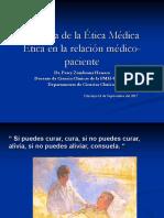 2da. Clase Historia de La Ética Médica y Ética en La Relación Médico Paciente.