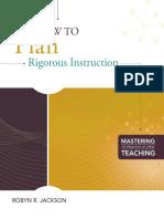Robyn Jackson - How to Plan Rigorous Instruction