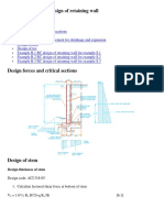 Reinforced concrete design of retaining wall.docx