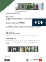 Divulgação e Ficha de inscrição do Seminário Lia 2010