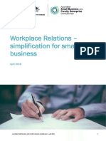 ASBFEO Workplace Relations Simplification