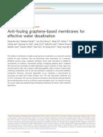 Anti-fouling Graphene-based Membranes for Effectiv