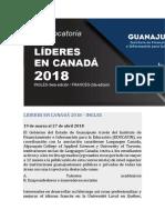 Lideres en Canadá 2018