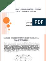 Cálculo de Los Parámetros de Una Banda Transportadora