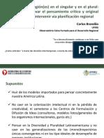 Carlos Brandão. Análise dos Grandes Projetos para a  AMÉRICA LATINA