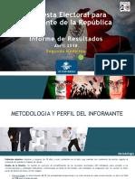 El Universal Informe Para Presidente de La Republica Medicion 2 (28042018) Final