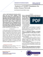 A Comparative Analysis of VANET Simulators for Wireless Sensor Network