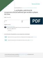 Conocimientos, Actitudes, Prácticas de Fotoprotección de Bañistas en Playas de Lima