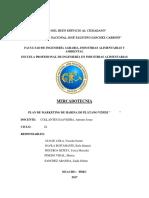 Harina de Platano Mercadotecnia I PARTE