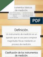 Instrumentos Básicos de Medición Equipo