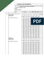 Planilla de Metrados de Reservorio