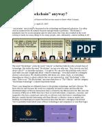 Blockcoin Defination Most Important 200 Percent