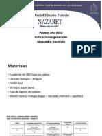 indicaciones generales - 1ero