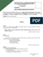 PAU de Geografía de España, septiembre  fase específica 2010 CAM