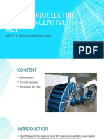 Mini-hydroelectric Power Inventive Act