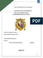 Informe de laboratorio de  Hidráulica