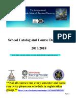 IMSoSD Course Catalog 2017 2018
