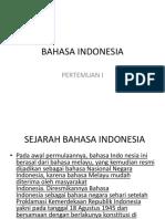 Bahasa Indonesia Tk 1