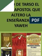 PABLO ALTERO LA ENSEÑANZA DE YAHWEH