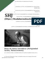 Base de Datos Hermética